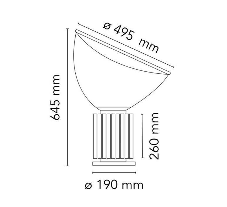 Taccia achille castiglioni lampe a poser table lamp  flos f6602030  design signed nedgis 126698 product
