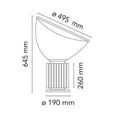Taccia achille castiglioni lampe a poser table lamp  flos f6602030  design signed nedgis 126698 thumb