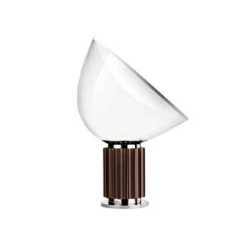 Lampe a poser taccia pmma bronze anodise led 2700k 1400lm o49 5cm h64 5cm flos normal