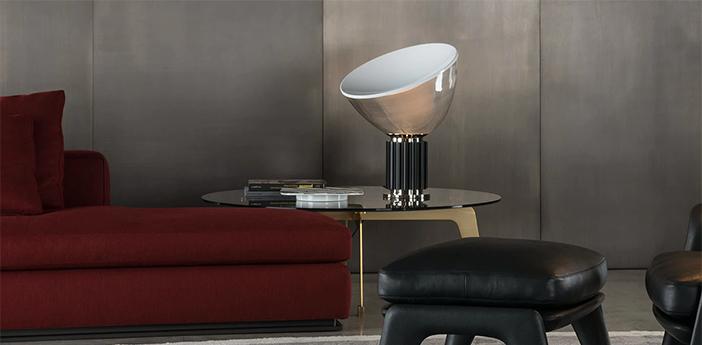 Lampe a poser taccia pmma noir led 2700k 1400lm o49 5cm h64 5cm flos normal