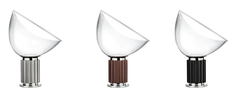Lampe a poser taccia small noir led 2700k 800lm o37 3cm h48 5cm flos normal