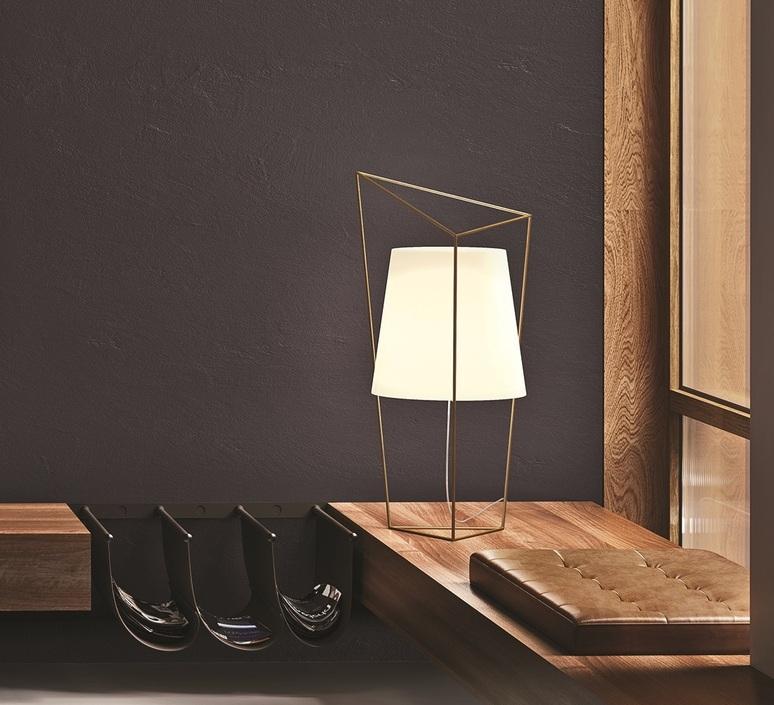 Table Lamp Tatu Brass Opalin Glass L35cm H69cm Kundalini Nedgis Lighting