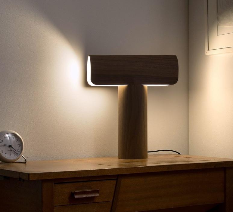 Lampe 8021BoisMarronLedL33cmH38cm PoserTeelo À Design Secto hQtdCBxsr