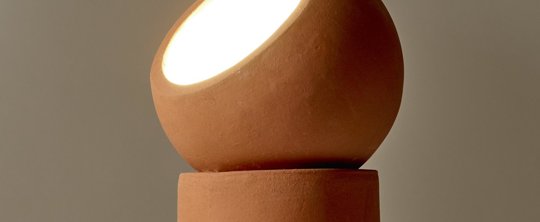 Lampe a poser terra light s terracotta o12cm h29cm serax normal