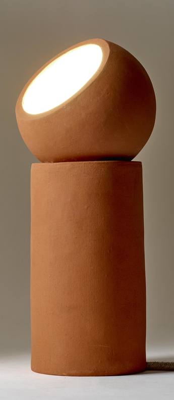 Lampe a poser terra light s terracotta o12cm h29cm serax normal