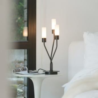 Lampe a poser tess noir o20cm h50cm cvl normal