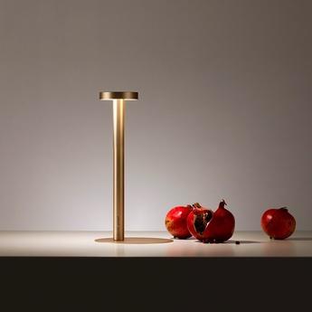 Lampe a poser tetatet or mat led 2700k 178lm o9cm h34 5cm davide groppi normal
