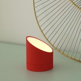 Lampe a poser the edge light alarm clock rose red o8cm h9 5cm gingko normal