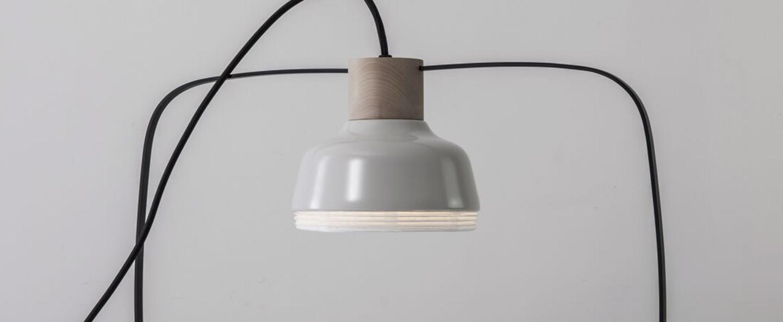 Lampe a poser the new old light plump blanc led l46cm h40cm kimu normal