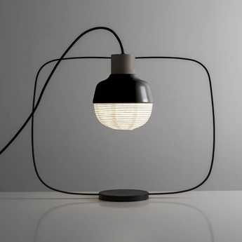Lampe a poser the new old light plump noir led l46cm h40cm kimu normal