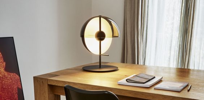 Lampe a poser theia m noir led o32cm h43 5cm marset normal