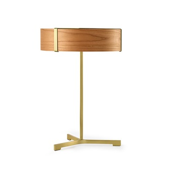 Lampe a poser thesis cerisier metal finition or led 3000k 1930lm o30cm h43cm lzf normal