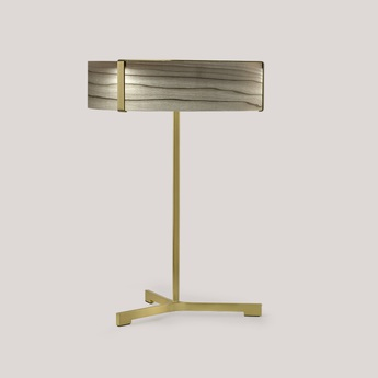 Lampe a poser thesis gris metal finition or led 3000k 1930lm o30cm h43cm lzf normal