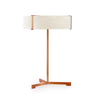 Lampe a poser thesis ivoire metal finition cuivre led 3000k 1930lm o30cm h43cm lzf normal