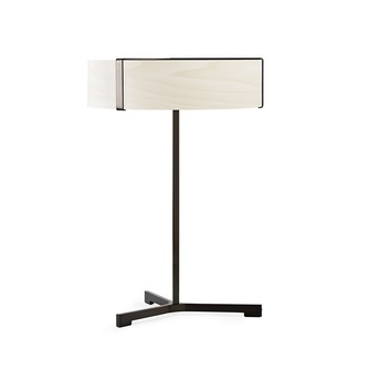 Lampe a poser thesis ivoire metal finition nickel noir led 3000k 1930lm o30cm h43cm lzf normal