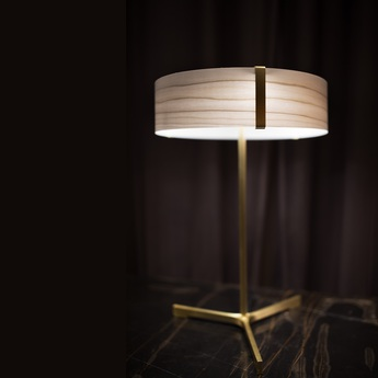 Lampe a poser thesis ivoire metal finition or led 3000k 1930lm o30cm h43cm lzf normal