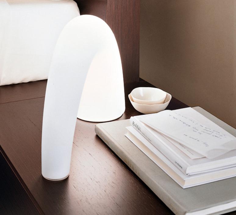 Lampe A Poser Thor Blanc H20cm Fontana Arte Luminaires Nedgis