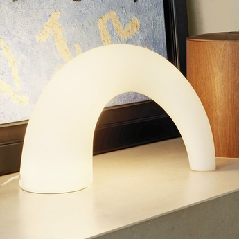 Lampe a poser thor blanc h25cm fontanaarte normal