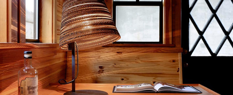 Lampe a poser tilt marron h56cm graypants normal
