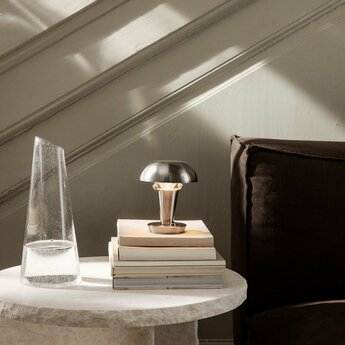 Lampe a poser tiny lamp acier o12cm h14cm ferm living normal