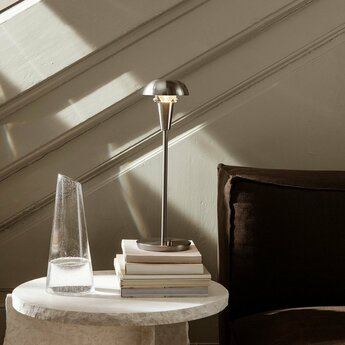 Lampe a poser tiny table lamp acier o12cm h42 2cm ferm living normal