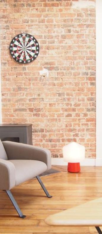 Lampe a poser tip top orange verre opalin blanc o30cm h40cm la chance normal
