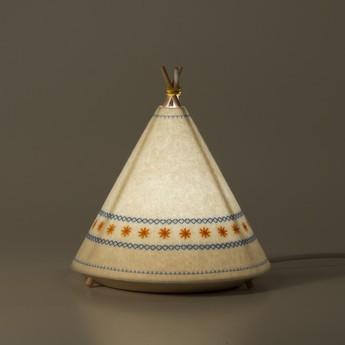 Lampe a poser tippi blanc jaune led o20 5cm h22cm buokids normal