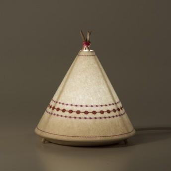 Lampe a poser tippi blanc rose led o20 5cm h22cm buokids normal