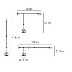 Tizio led richard sapper lampe a poser table lamp  artemide a009210   design signed 34607 thumb