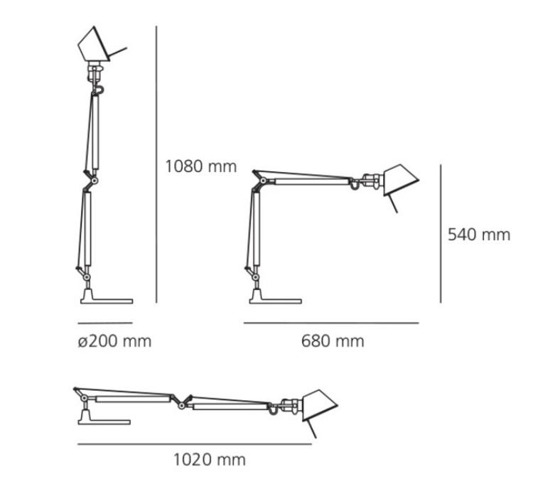 Tolomeo michele de lucchi lampe a poser table lamp  artemide a005910 a008600  design signed nedgis 120292 product