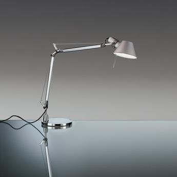Lampe a poser tolomeo aluminium o20cm h108cm artemide normal