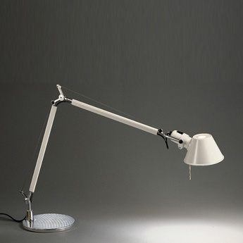 Lampe a poser tolomeo table blanc h129cm l122cm artemide normal