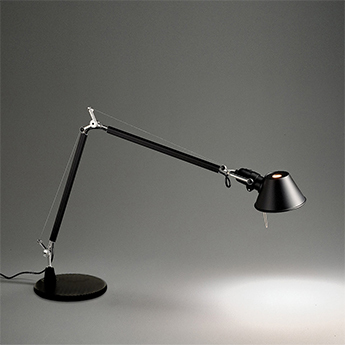 Lampe a poser tolomeo table noir h129cm l122cm artemide normal