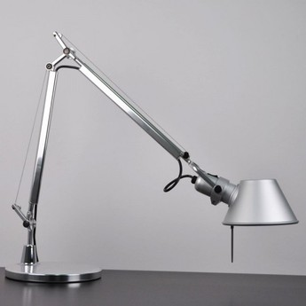 Lampe a poser tolomeo tavolo micro aluminium h73cm l69cm artemide normal