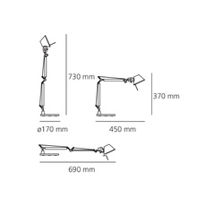 Tolomeo tavolo micro michele de lucchi lampe a poser table lamp  artemide 0011860a  design signed 34210 thumb