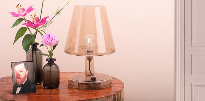 Lampe a poser trans parents bronze led o32 7cm h50 5cm fatboy normal