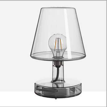 Lampe a poser transloetje gris led o16 5cm h25 5cm fatboy normal