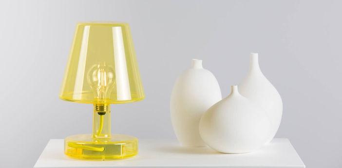Lampe a poser transloetje jaune led o16 5cm h25 5cm fatboy normal