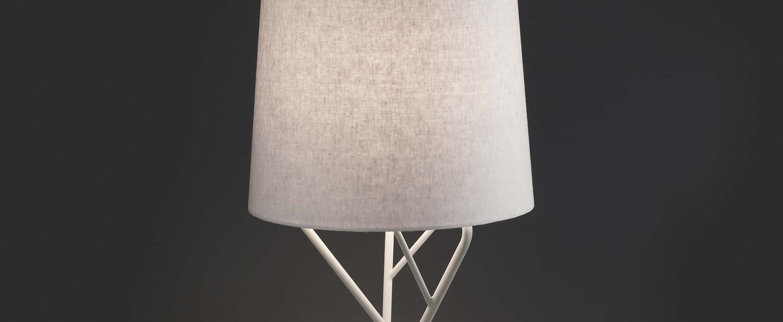 Lampe a poser tree blanc led h51 5cm o23cm faro normal