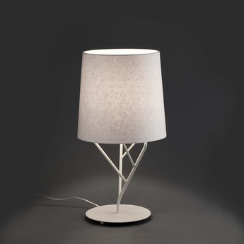 Lampe a poser tree blanc led h51 5cm o23cm faro normal