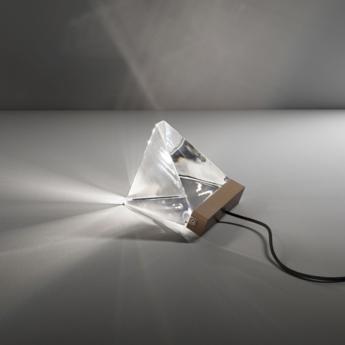Lampe a poser tripla f41 bronze led l9 8cm h7 5cm fabbian normal