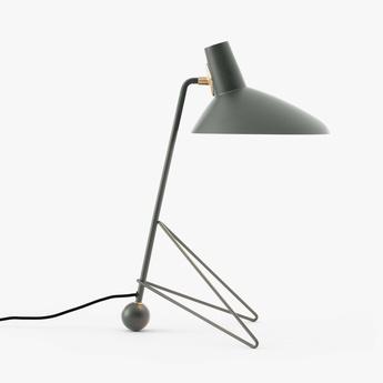 Lampe a poser tripod mh9 gris l26cm h45cm andtradition normal