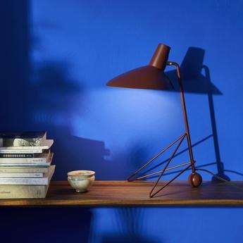 Lampe a poser tripod mh9 marron l26cm h45cm andtradition normal