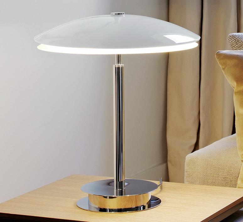 lampe poser tris blanc brillant h43cm fontana arte luminaires nedgis. Black Bedroom Furniture Sets. Home Design Ideas