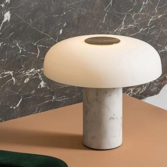 Lampe a poser tropico media blanc led 3000k 3700lm o36cm h32 2cm fontana arte normal