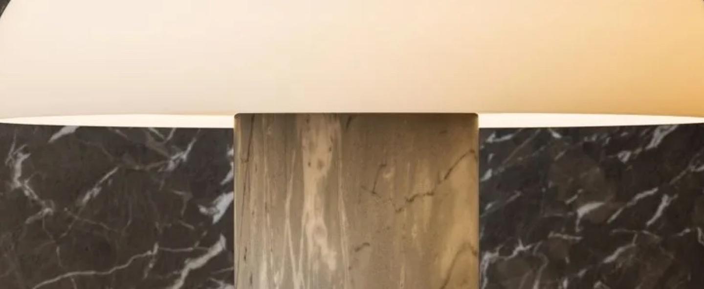 Lampe a poser tropico media gris clair led 3000k 3700lm o36cm h32 2cm fontana arte normal