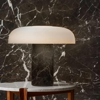 Lampe a poser tropico media noir led 3000k 3700lm o36cm h32 2cm fontana arte normal