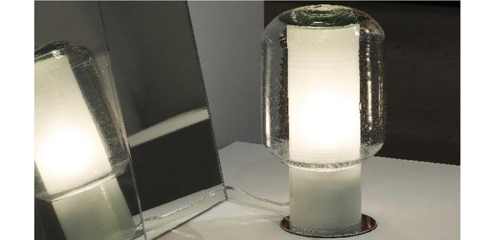 Lampe a poser trufa transparent l19cm h30cm david pompa normal