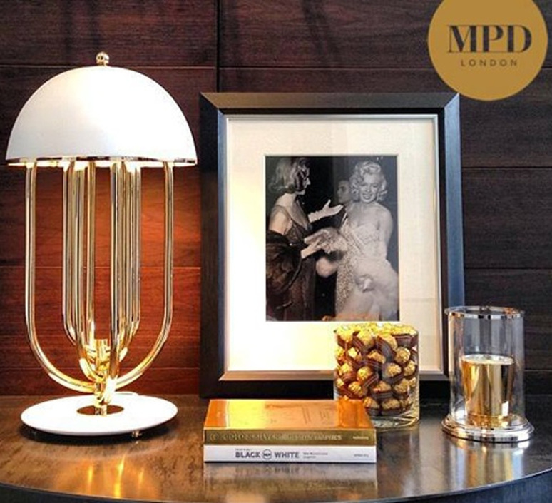 Turner studio delightfull delightfull turner table gold white luminaire lighting design signed 25626 product