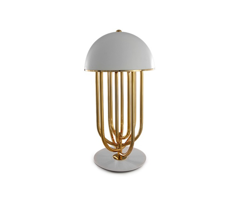 Turner studio delightfull delightfull turner table gold white luminaire lighting design signed 25627 product